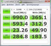 2x 128 GB M4 Raid 0 Crystal DiskMark
