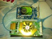 Oben meine alte Geforce 7600 unten: meine 8800GT Super