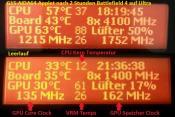 G15 AIDA64 Applet, Vollast BF4 Ultra und Leerlauf