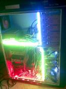 my pc with 5 neon lamps