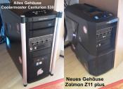 Altes Coolermaster und neues Z11 Gehäuse