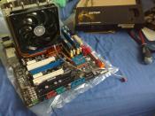 Mainboard mit neuem CPU Kühler
