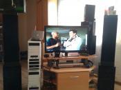 Media Center im Wohnzimmer