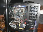 Erster Einbau Case alle Kabel angeschlossen