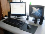 Das ist mein Platz zum zocken usw... Links auf dem Bild seht ihr mein neuer Bildschirm :D