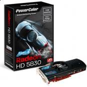 Die PowerColor HD5830 PCS+, werksseitig übertaktet...richtig gute Grafikkarte