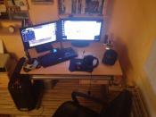 PC Ecke fertig aufgebaut