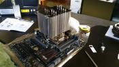 Kühler & CPU verbaut