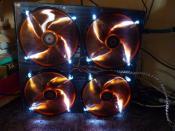 Phobya Xtreme NOVA 1080 mit 4 Xigmatek XLF-F1703 Orangeline