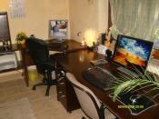 ein kleines Büro zu Hause,...ist praktisch