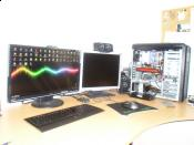 Monitor und Maschine Tagsüber