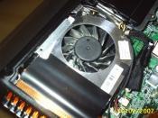 Der einzige Lüfter im ganzen Laptop, dient zur Kühlung von CPU und GPU