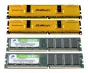 2x 512 MB Crucial Technology (PC3200)+ 2x 512 MB Corsair (PC3200)