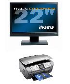 "iiyama  ProLite E2200WS, 22"" Wide + EPSON RX-700"