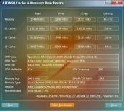 i7 2600k 4.7 GHz Aida Speicher- und Cache-Benchmark