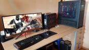 Mein Schreibtisch ohne Ergotron LX und Logitech G 910