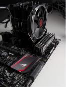 Kühler, Board, RAM und CPU