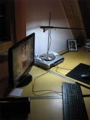 Mein Schreibtisch bei Nacht
