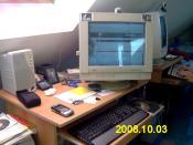 Mein Schreibtisch etwas unaufgeräumt