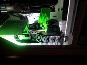 Update: Im Innenraum eine weiße Kathode eingebaut und auf der Scheibe ist jetzt ein Tiger Panzer zu sehen