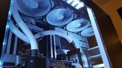 Blick auf den oberen 480er Radiator