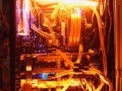 """Mein altes MoBo EVGA 680i """" Black Pearl """" + Wassergekühlter DDR2 Speicher OCZ XLC+ EK Suprem"""