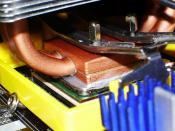 CPU-Kühler auf CPU