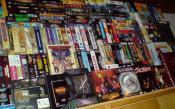 """Ein paar Impressionen aus dem """"Hobbyraum"""" (alle Schränke innen randvoll mit Spielen in DVD-Hülle)"""