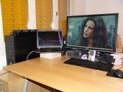 Arbeitsplatz mit Dell 2407WFP und ThinkPad T61
