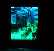 Pc im Dunkeln (blaue und grüne CCFL)