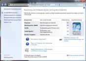 Windows 7 Leistungsindex