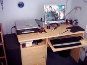 Alter Arbeitsplatz (noch mit altem Gehäuse und Tastatur)