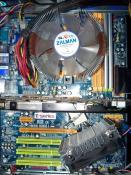 Mein Mainboard Biostar TF570 SLI mit der 8800GT von Zotac