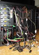 Unaufgeräumte Kabel hintem MainboardTray