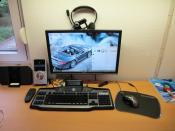 Schreibtisch im Hellen (neu)