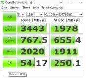 M.2 SSD Benchmark after clean install