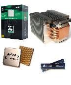 AMD Opteron 170 (@2*2,8GHz) + 2x 1024 MB Corsair (TwinX black) (PC3200), Scythe Infinity CPU Kühler