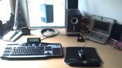 Aktuelles Bild mit neuem Mouse-Pad, neuer Tastatur und Mouse Bungee!