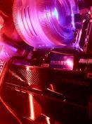 Kühler Angeleuchter von LEDs