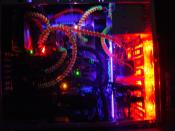 Die Seitenansicht mit UV Licht