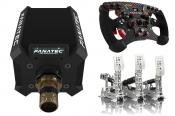 Fanatec Podium Wheel Base DD1, ClubSport Formula V2, Heusinkveld Sim Pedals Ultimate+