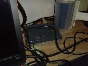 Hier kommt der Krach raus. 5.1, 2x Optisch (In/Out) und Anschluss fürs Headset