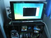 Mein 2. Bildschirm Sony Full HD, um Blue Ray Vids schauen zu können, über einen DVI-HDMI adapter, 8 M HDMI kabel