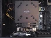 Vogelperspektive vom CPU-Kühler.
