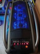 Coolermaster Cosmos S von oben mit LED Beleuchtung