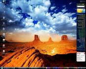 Desktop mit Everest Gadget (Vista Sidebar)