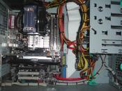 PC Innenleben mit Geforce 750 TI