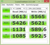 Crystal Disk Mark 3.0.3 x64 -- Samsung PRO SSD