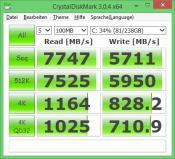 Crystal Disk Mark 3.0.4 x64 -- Samsung 840 Pro -- w/ RapidMode