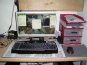 Mein Arbeitsplatz damals NOCH mit der alten G-15 :'(